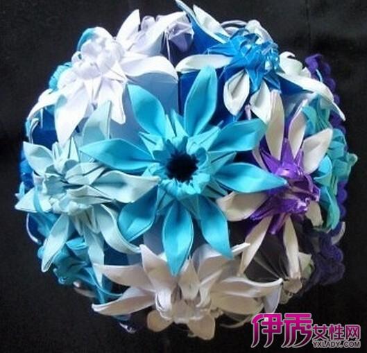 【图】幼儿园手工制作花朵展示 手工折纸菊花的方法
