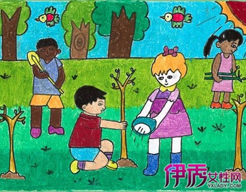 保护环境儿童画