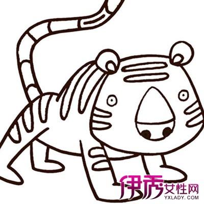 【图】老虎儿童画图片大全 从两方面对儿童画画进行指导