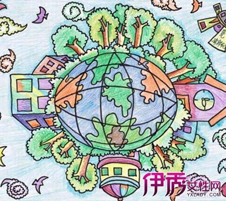 保护环境图画-绿色环保儿童画