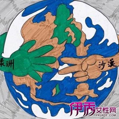 保护环境图画-环保儿童画