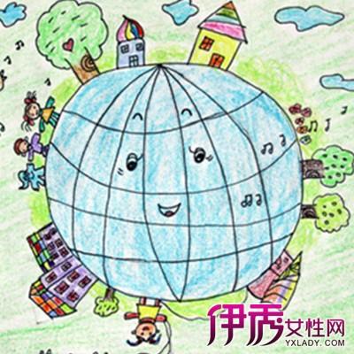 地球画儿童画