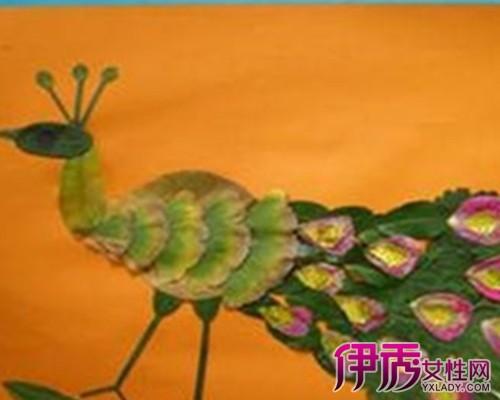 幼儿树叶贴画作品 树叶贴画的无限创意!