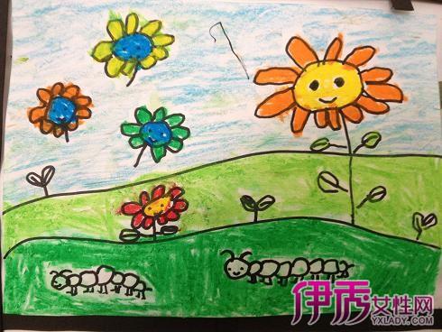 春天的画儿童画画