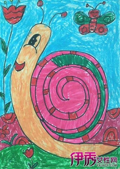 【图】儿童水粉画蜗牛画欣赏 画水粉画的6大基本技巧-儿童水粉画 蜗牛