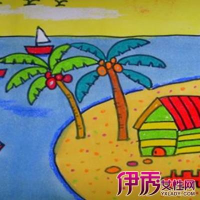 儿童获奖风景画绘画图片