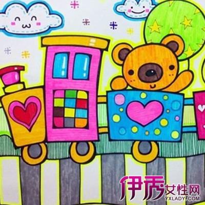 【图】婴儿火车简笔画欣赏 激发儿童创造力