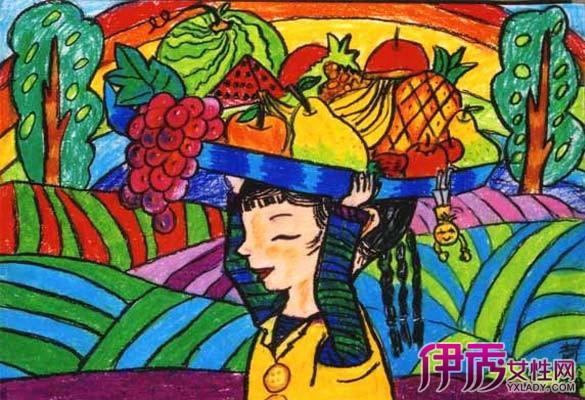 秋天的景色儿童画_绘画分享_画画大全