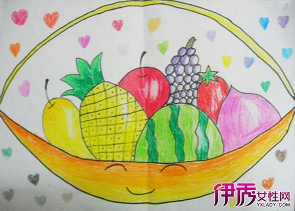 儿童画水果