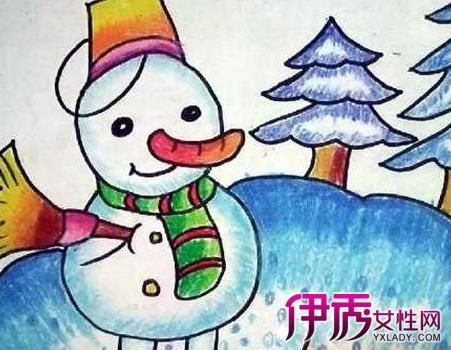 冬天儿童画