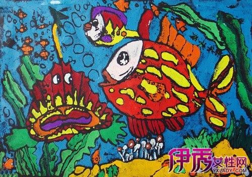 【图】海底世界获奖儿童画欣赏 3步教你指导孩子作个性儿童画