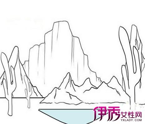 【图】儿童简笔山水画欣赏 山水画简笔画教程分享