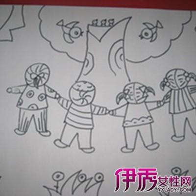 幼儿园秋游简笔画