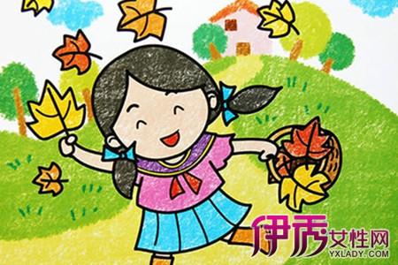 【图】秋天的图画的儿童画欣赏 盘点儿童学画画的六大好处-秋天的图