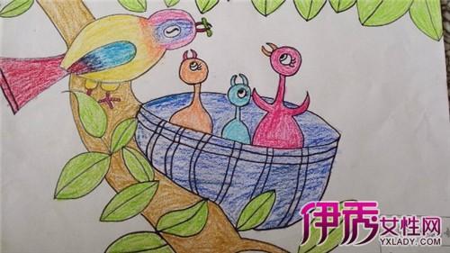 幼儿绘画教师示范画