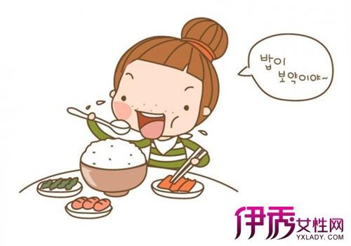 幼儿吃饭卡通图片