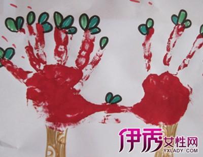 【图】幼儿手掌树画图片欣赏 打开孩子的画画世界
