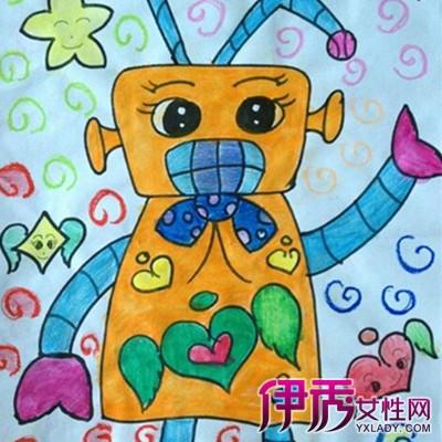【图】儿童画机器人图片大全 3步教你指导孩子作个性儿童画