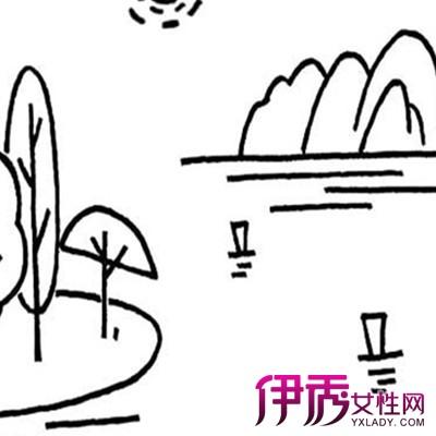 小学生风景简笔画图片