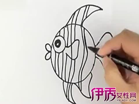 【图】热带鱼简笔画图片大全 介绍儿童简笔画3个历程