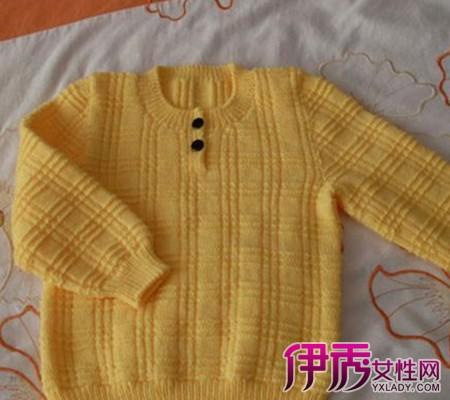 手工编织儿童毛衣全部图片展示