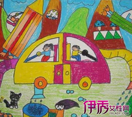 再见幼儿园绘画作品