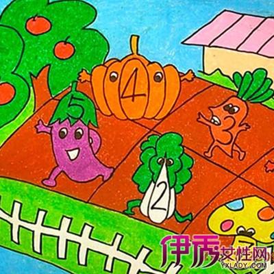 秋天的画儿童画