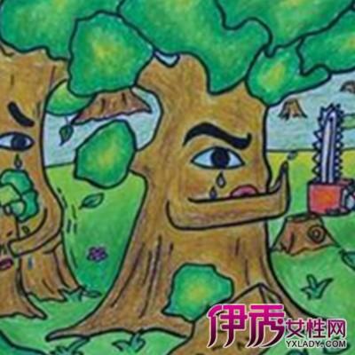 儿童画森林图片