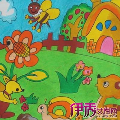 【图】优秀儿童美丽校园绘画图欣赏