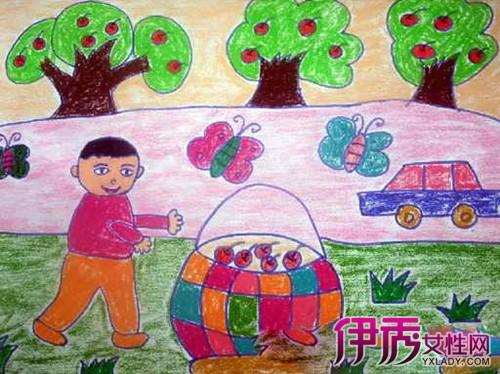 【图】秋天水果图片儿童画展示 展现秋天-丰收的季节的魅力-秋天水果