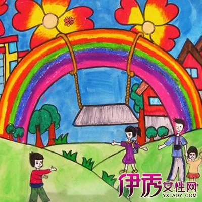 【图】欣赏彩虹儿童画图片 让你了解美术绘画对儿童的3大好处