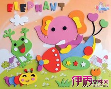 【图】欣赏儿童手工贴画制作图片