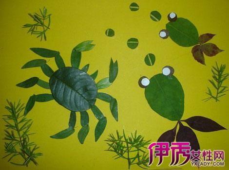 【图】鉴赏幼儿树叶粘贴画图片 三步教会孩子粘贴画