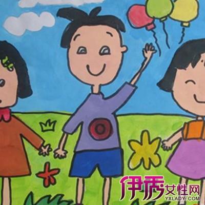 【图】萌萌哒幸福一家人儿童画图片