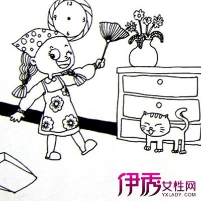 【图】小朋友扫地简笔画图片大全