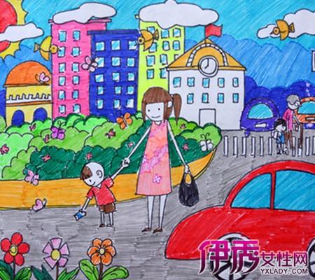 共创文明城市儿童画 创建文明城市儿童画 创建文明