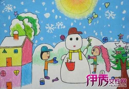 【图】描绘冬天的图片儿童画欣赏 画画促进幼儿智力发展图片