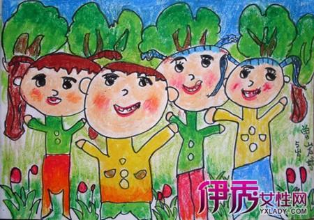 【图】幼儿园感恩树绘图展示 3点介绍美术绘画对幼儿的教育益处-幼儿
