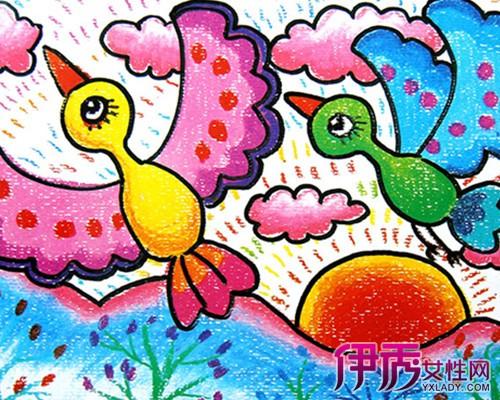 【图】幼儿园油画棒作品图片