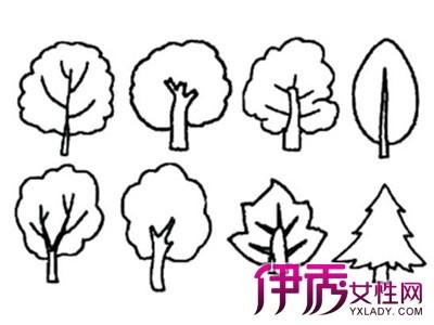 教会孩子画简笔大树画-幼儿画画图片大全树