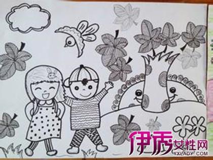 【图】鉴赏幼儿园线条画图片 如何让孩子发挥创作欲望图片