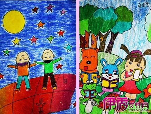 学习 爱祖国 爱劳动儿童画