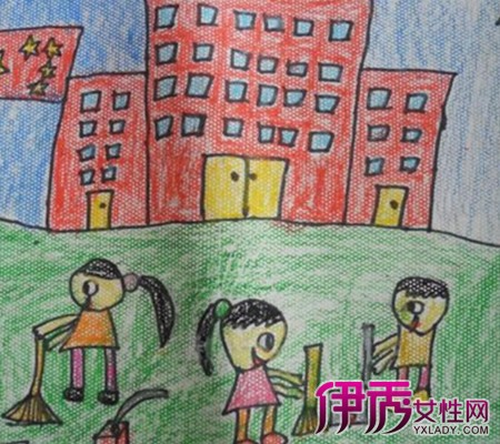 【图】校园一角的儿童画 4大招正确引导孩子绘画