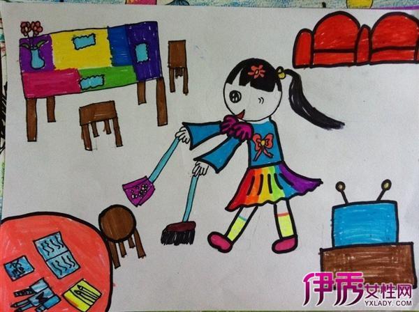 学习 爱祖国 爱劳动 儿童画