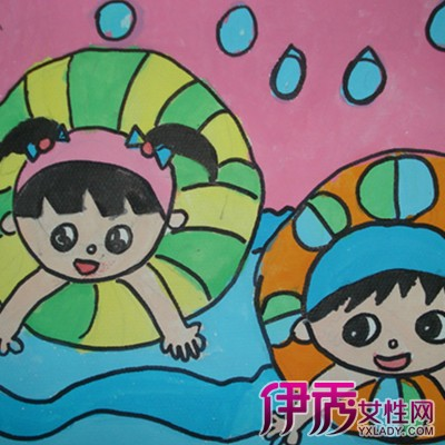 【图】欣赏孩子画的游泳儿童画图片 家长带孩子去游泳要注意的问题