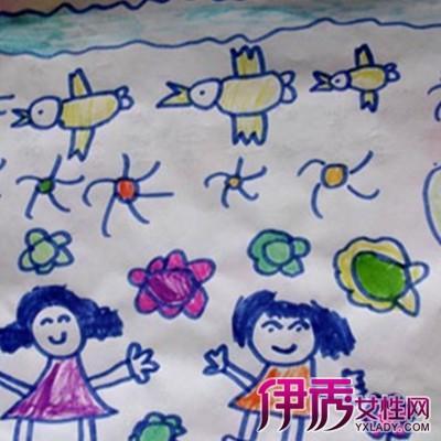 【图】美术教程我的新朋友幼儿绘画展示 孩子作画关键是兴趣