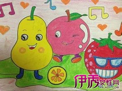 【图】中班绘画作品范画 幼儿园中班美术教案:蔬菜印画