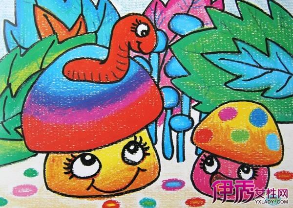 【图】幼儿蘑菇彩色简笔画展示 绘出孩子们心中的美好天地
