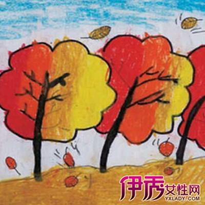 幼儿秋天绘画作品