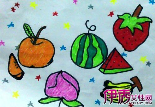 幼儿水果绘画作品